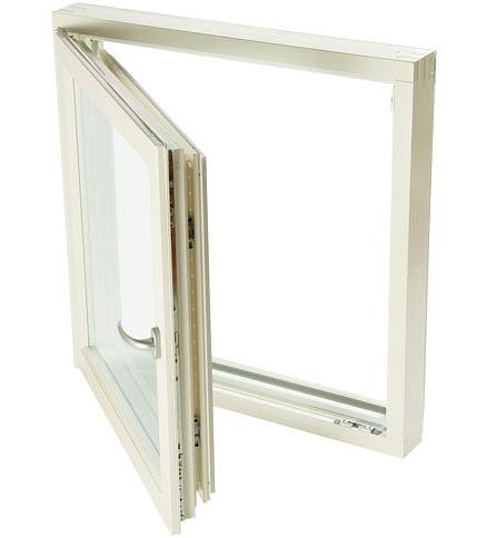 В открытом положении окно Skaala Continental можно безопасно мыть с обеих сторон, находясь при этом внутри помещения.